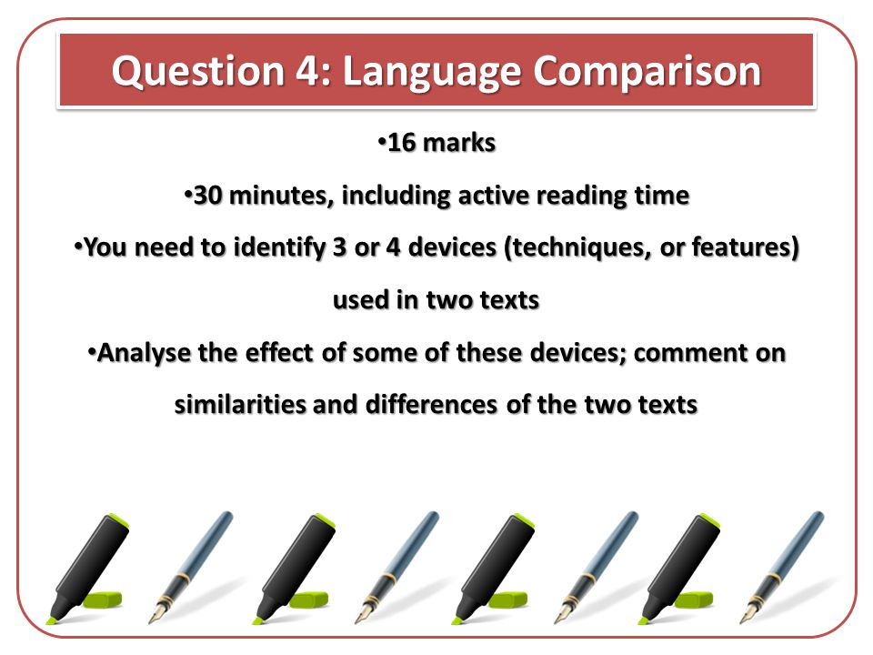 Question 4: Language Comparison