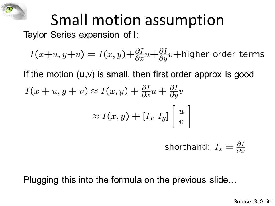 Small motion assumption