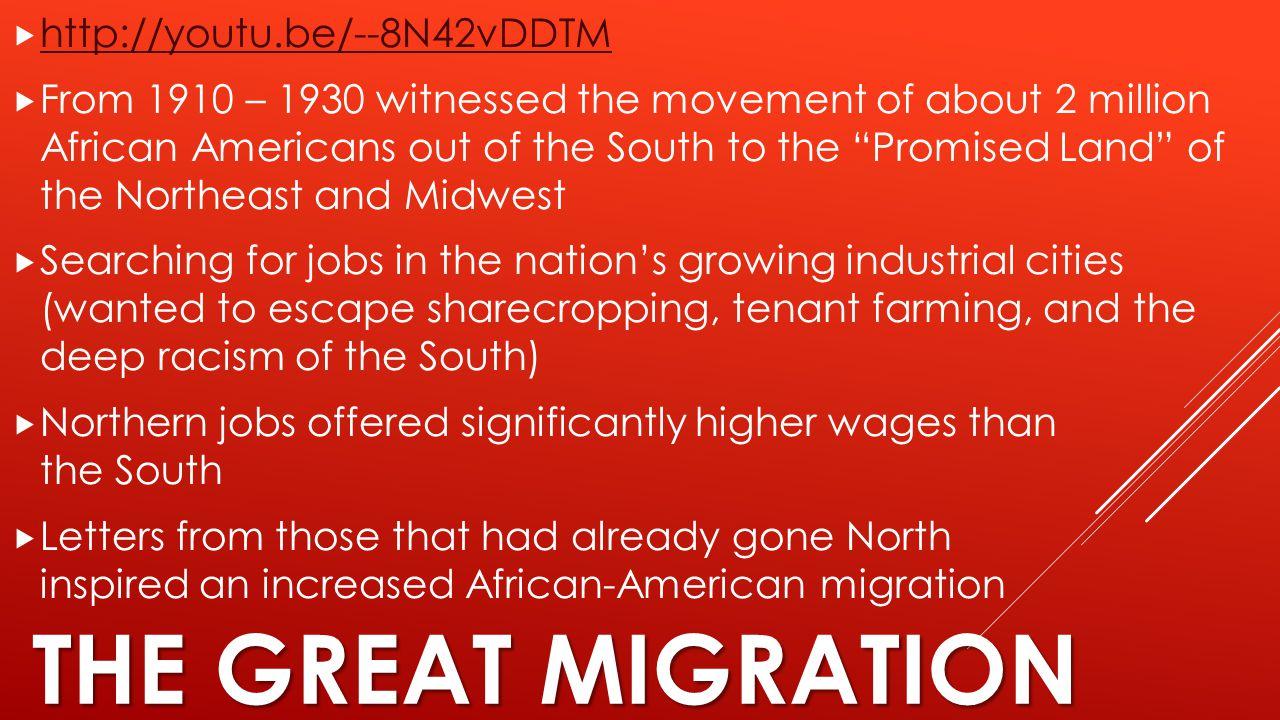 The Great Migration http://youtu.be/--8N42vDDTM