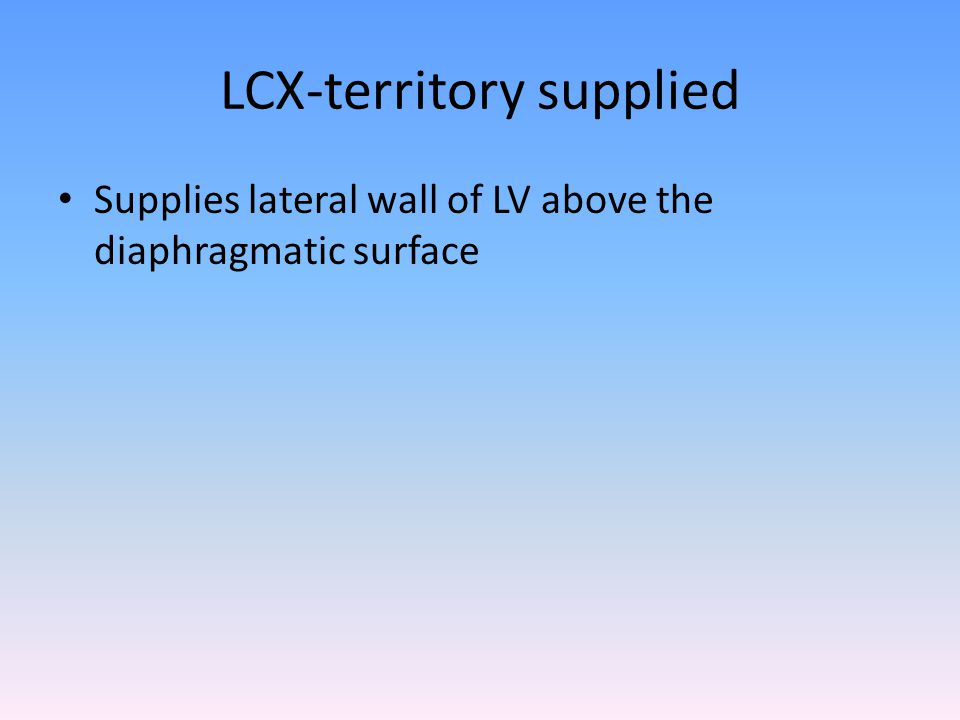 LCX-territory supplied