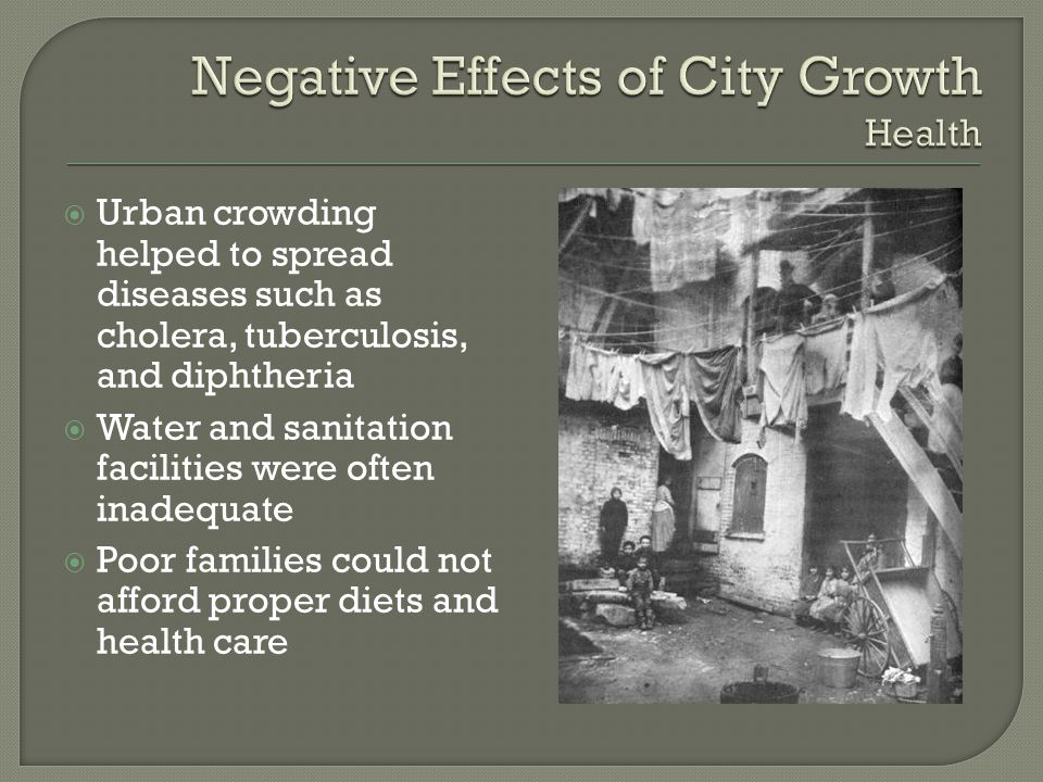 Negative Effects of City Growth Health