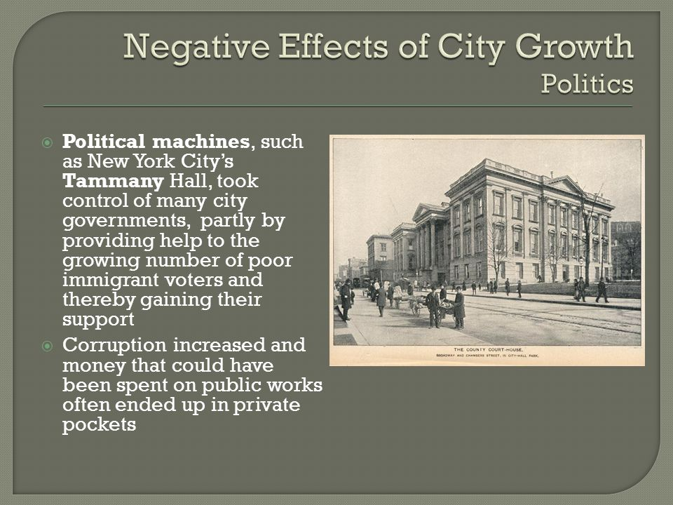 Negative Effects of City Growth Politics