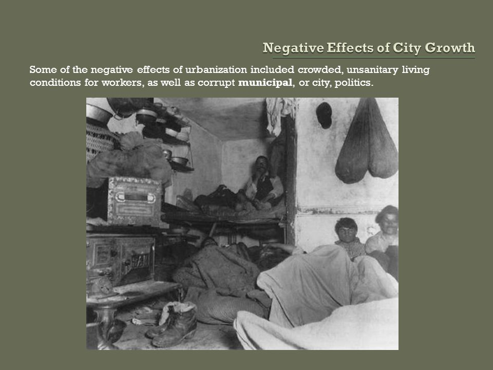 Negative Effects of City Growth