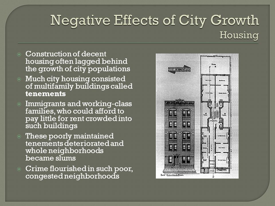 Negative Effects of City Growth Housing