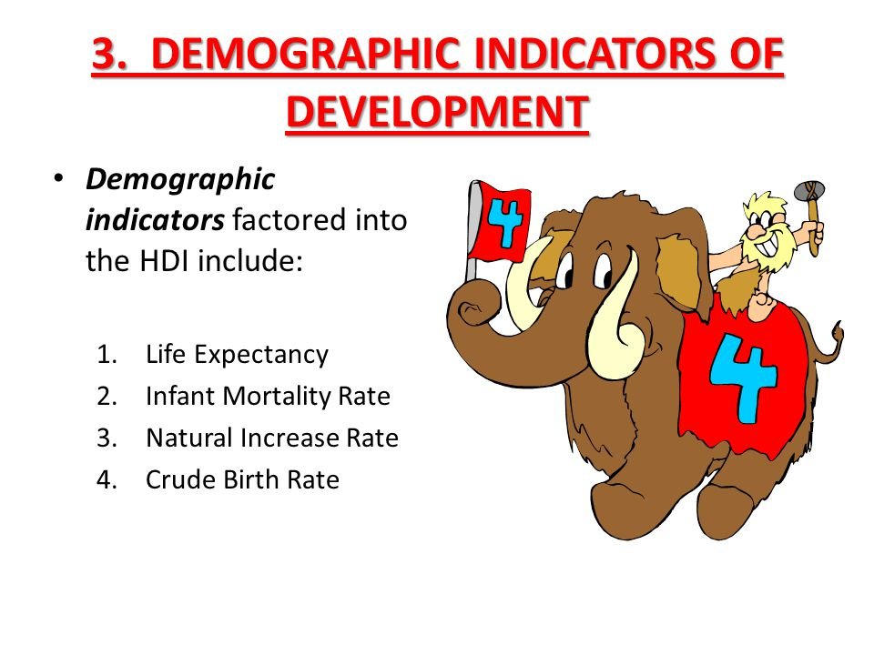 3. DEMOGRAPHIC INDICATORS OF DEVELOPMENT