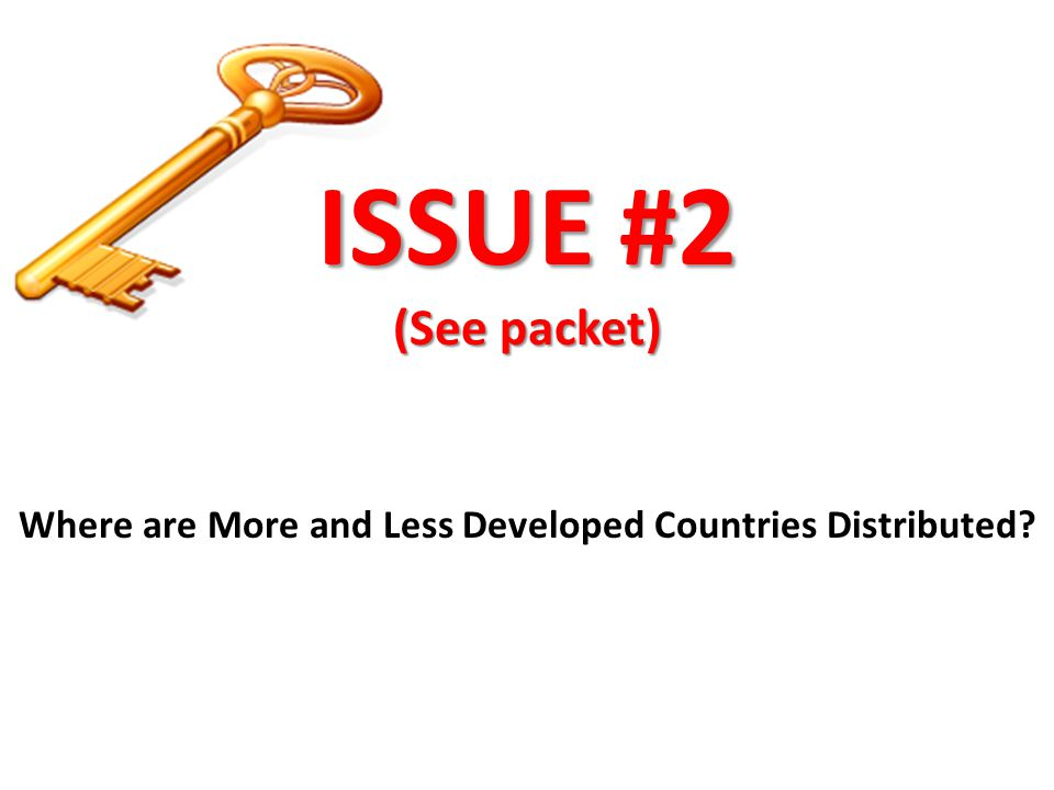 Where are More and Less Developed Countries Distributed