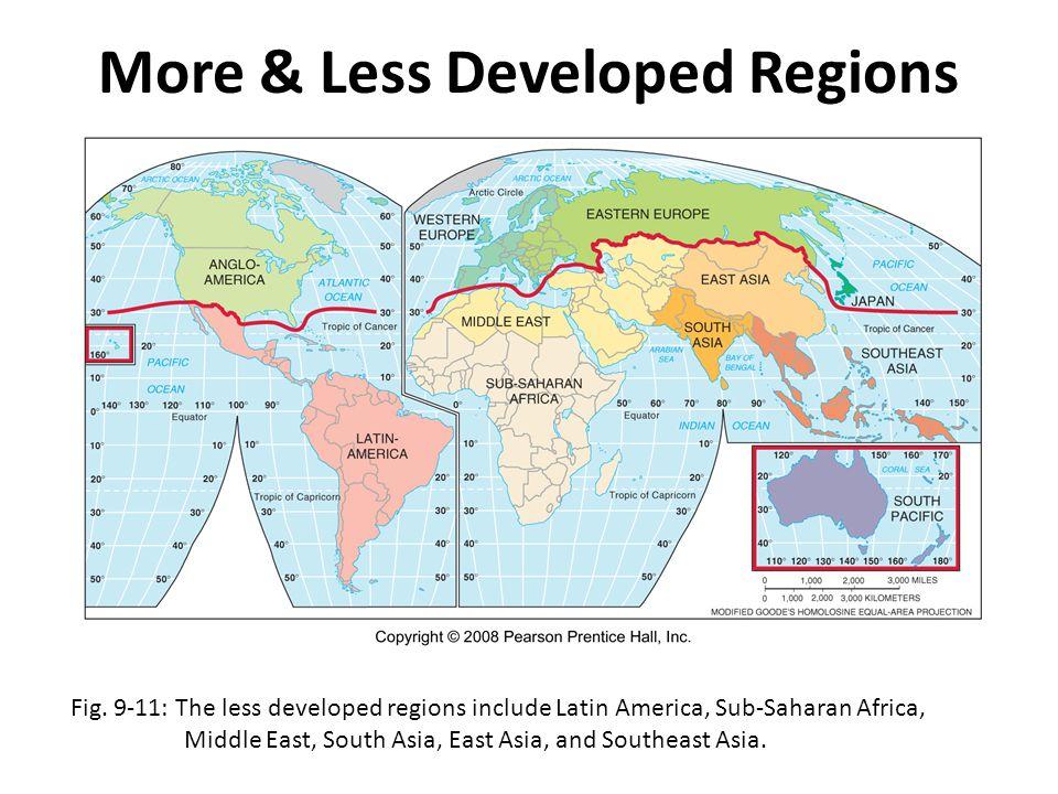 More & Less Developed Regions