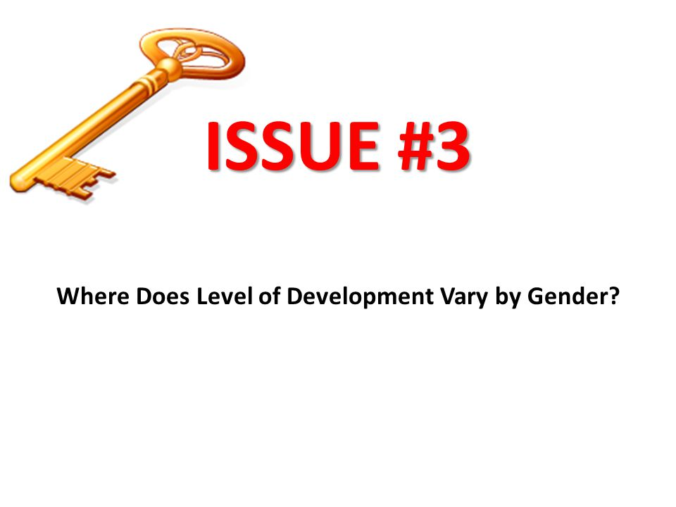 Where Does Level of Development Vary by Gender