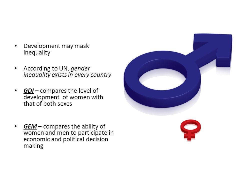 Development may mask inequality
