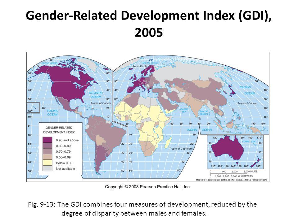 Gender-Related Development Index (GDI), 2005