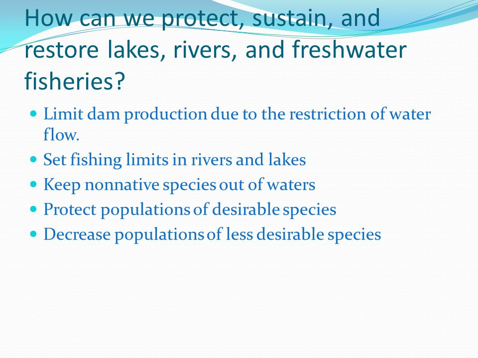 How can we protect, sustain, and restore lakes, rivers, and freshwater fisheries