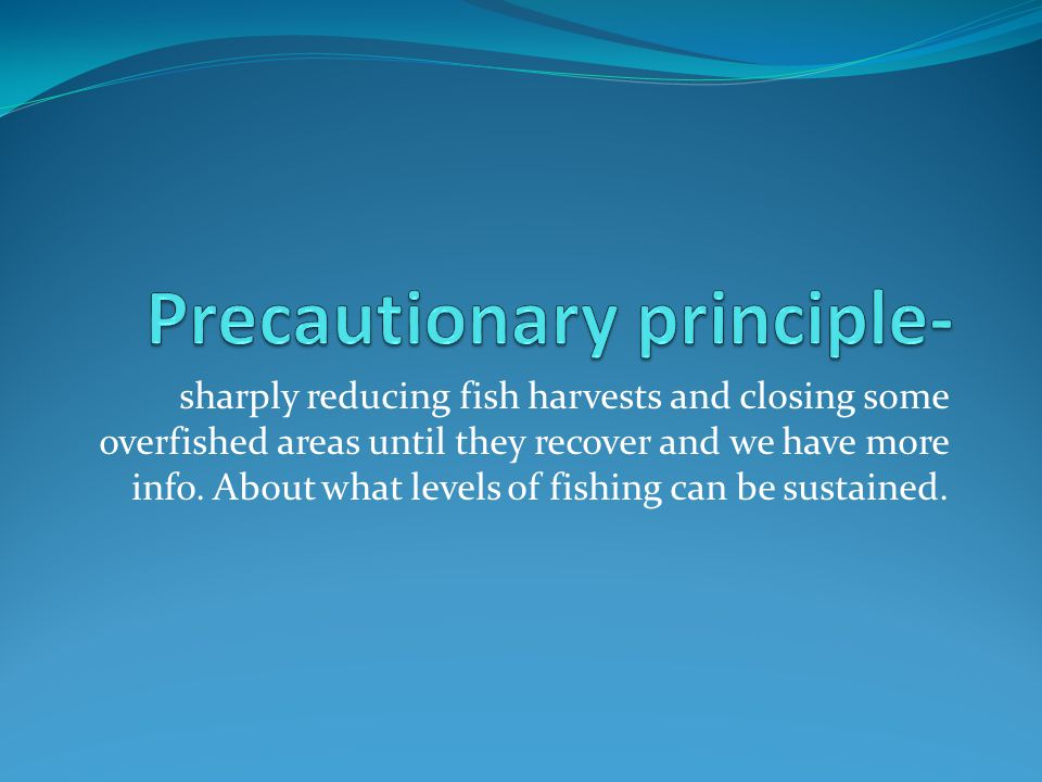 Precautionary principle-