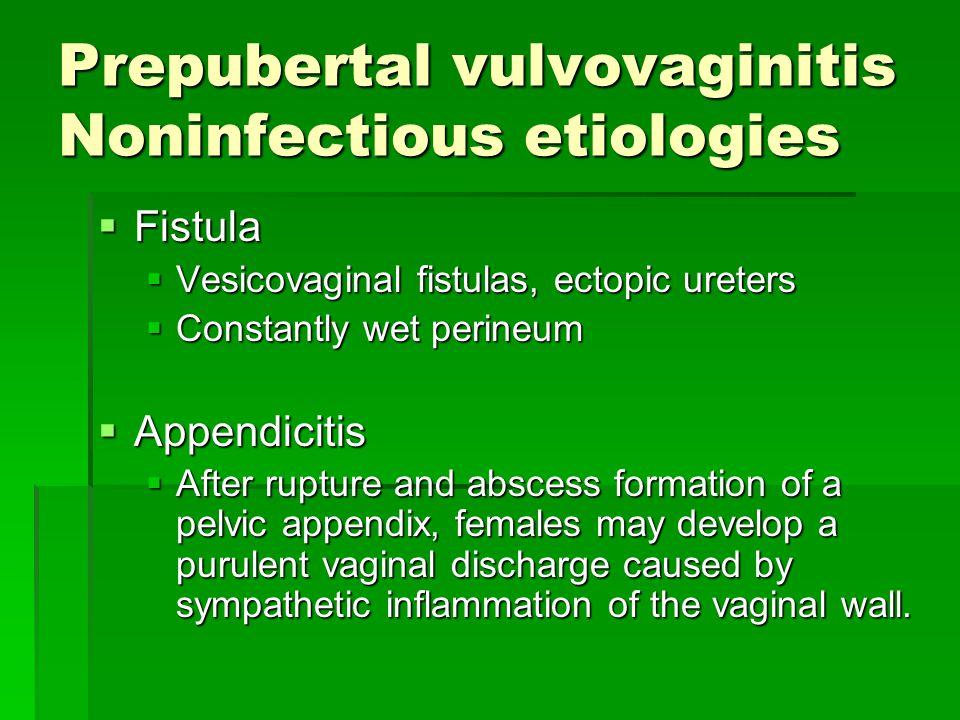 Prepubertal vulvovaginitis Noninfectious etiologies