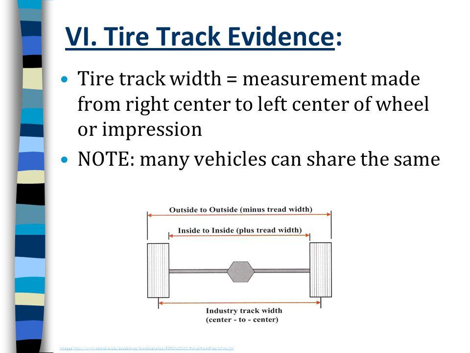 VI. Tire Track Evidence: