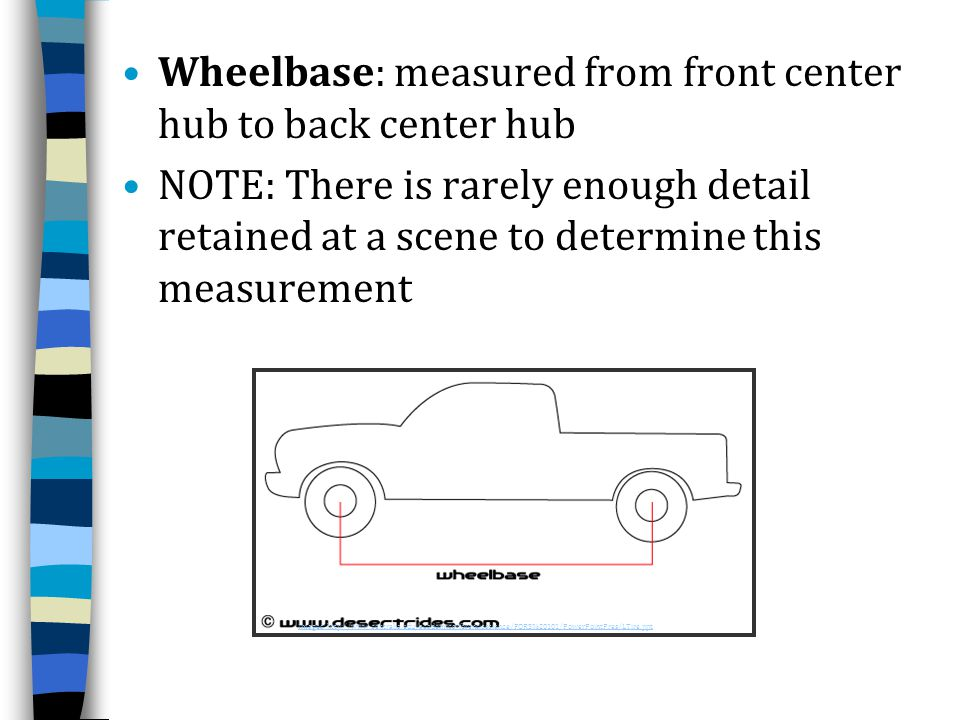 Wheelbase: measured from front center hub to back center hub