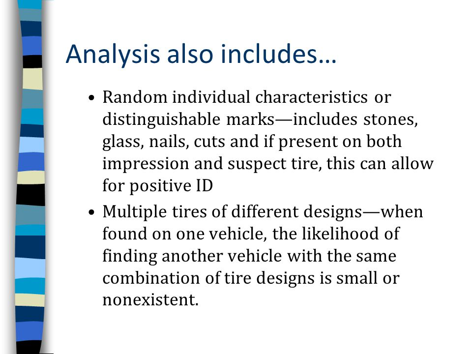Analysis also includes…