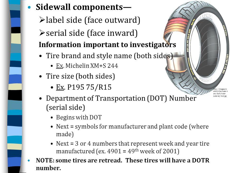 label side (face outward) serial side (face inward)