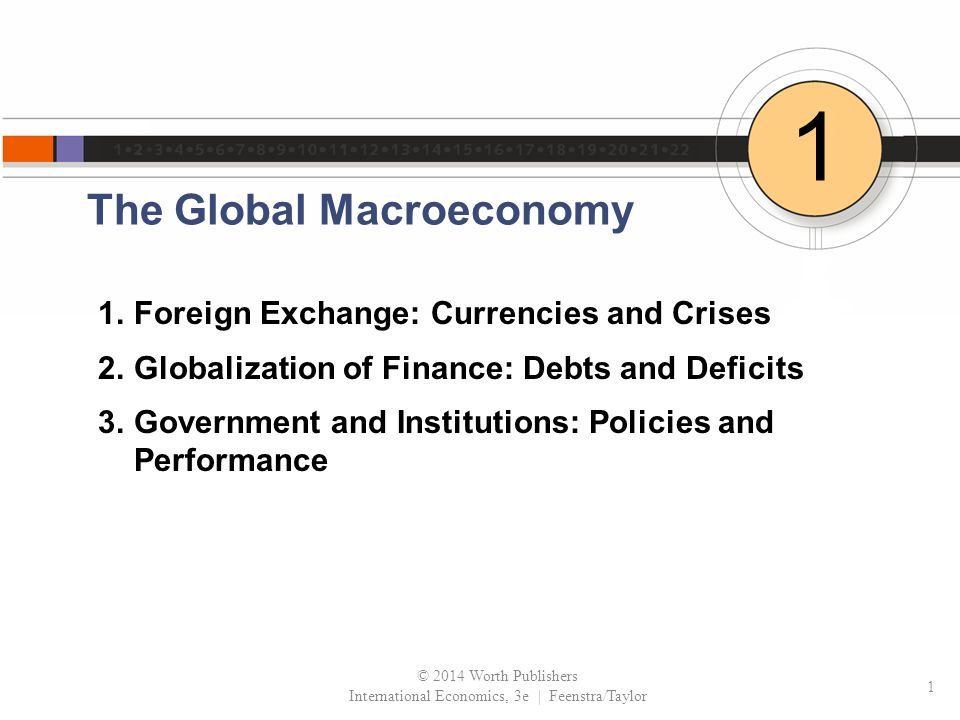 The Global Macroeconomy