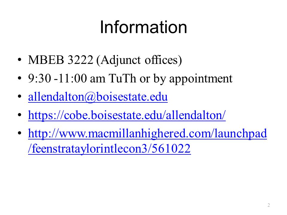 Information MBEB 3222 (Adjunct offices)