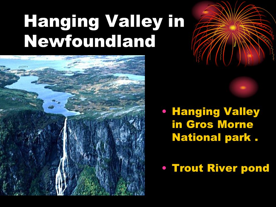 Hanging Valley in Newfoundland