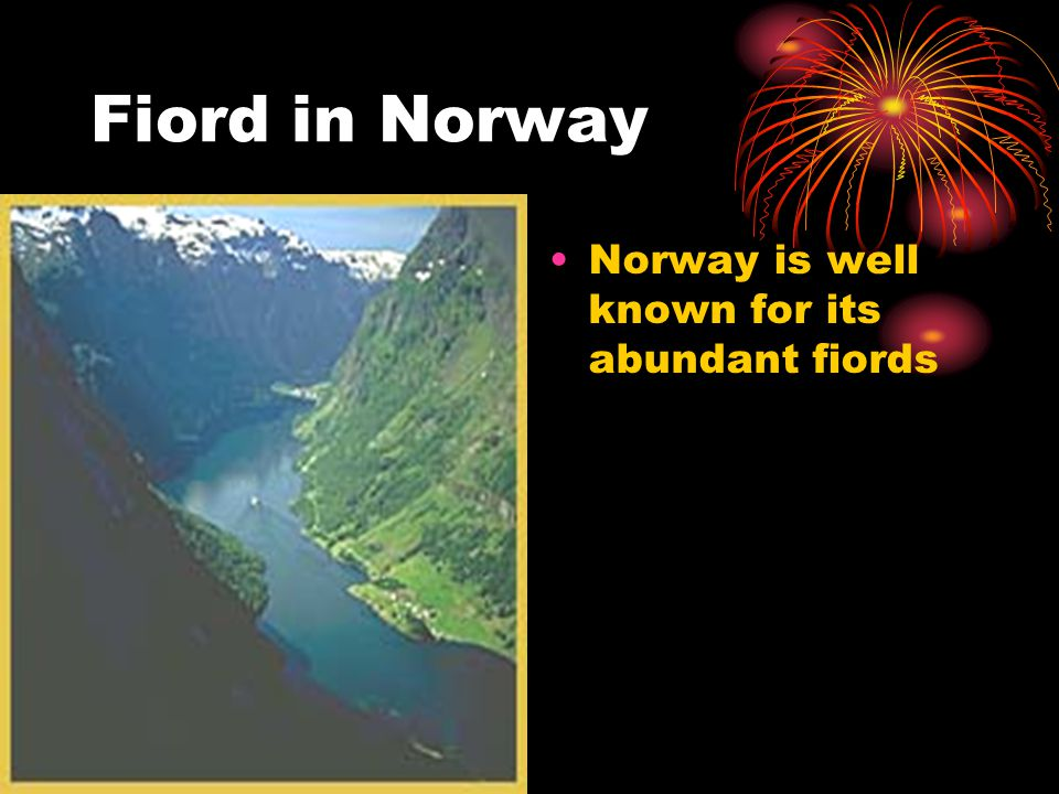 Fiord in Norway Norway is well known for its abundant fiords