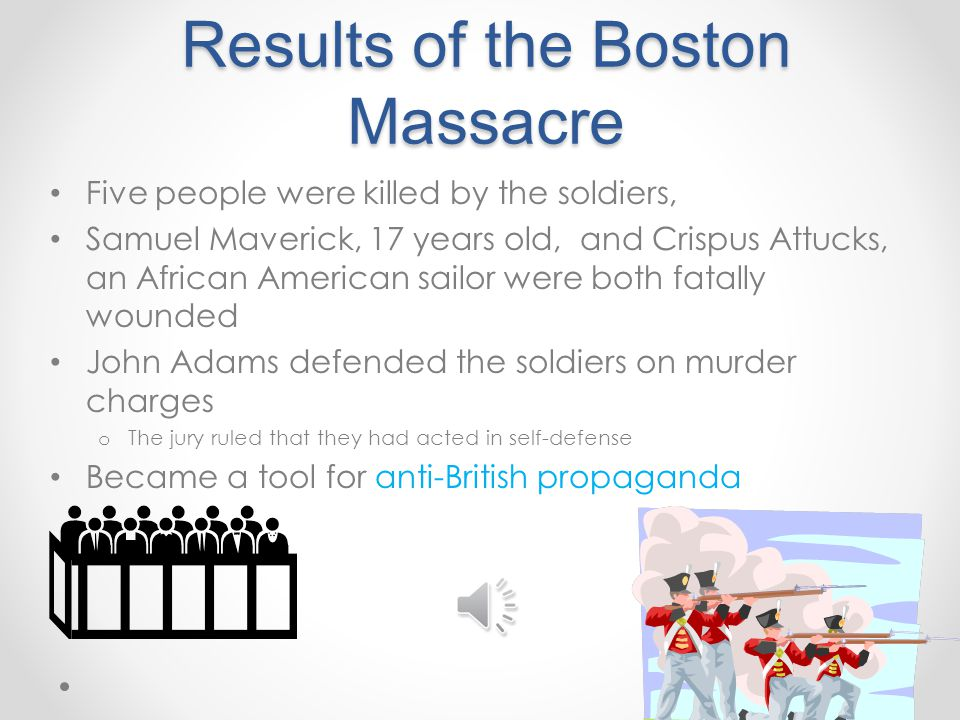 Results of the Boston Massacre