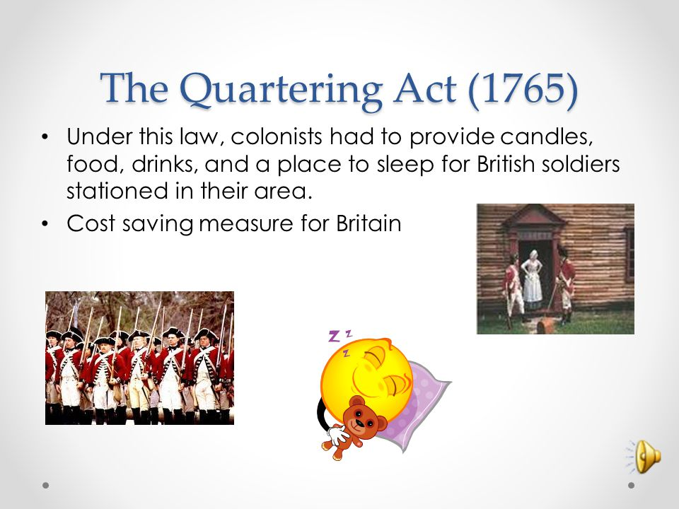 The Quartering Act (1765)