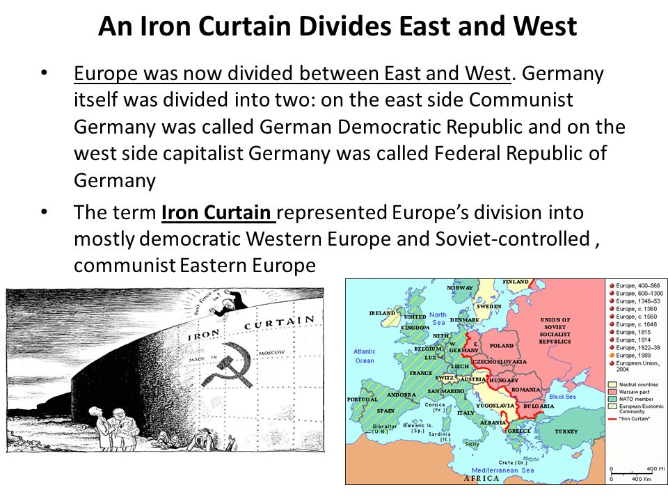 An Iron Curtain Divides East and West
