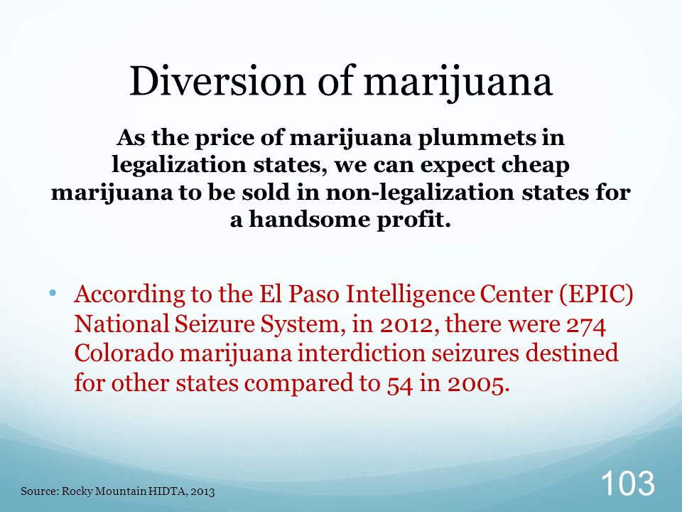 Diversion of marijuana