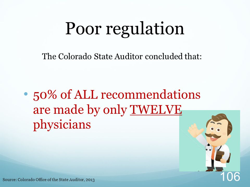 The Colorado State Auditor concluded that: