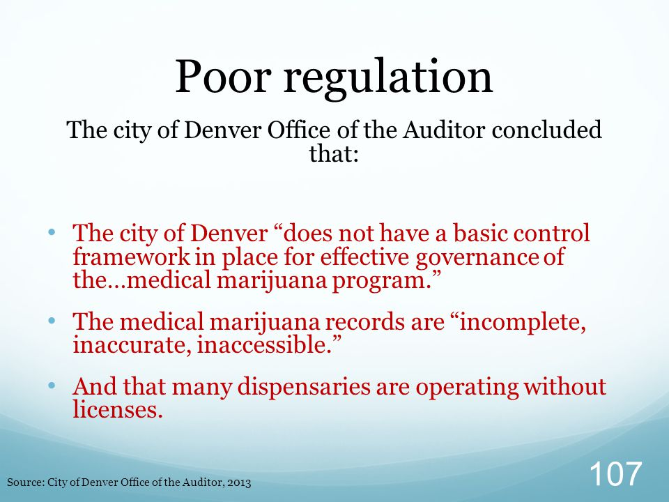 The city of Denver Office of the Auditor concluded that: