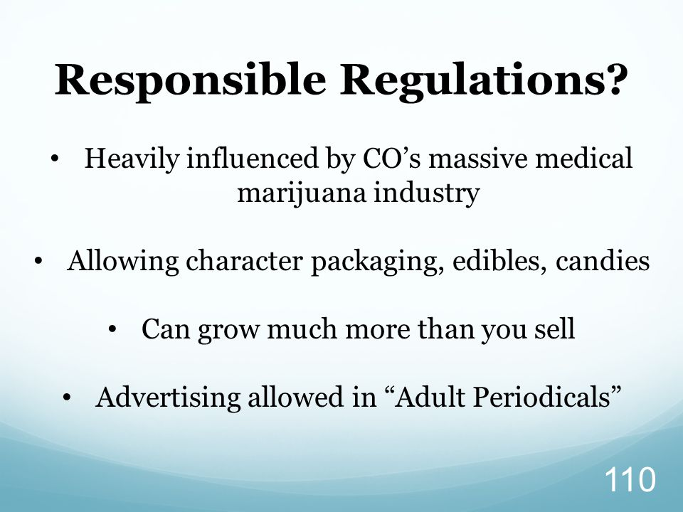 Responsible Regulations