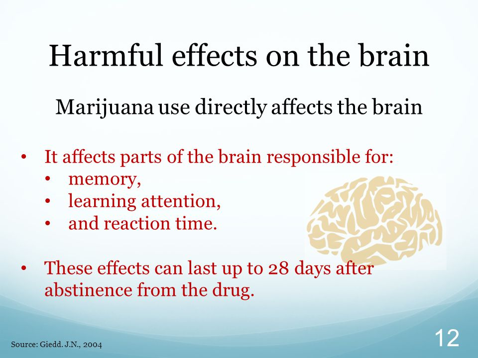 Harmful effects on the brain