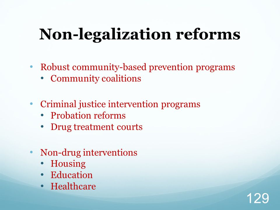 Non-legalization reforms