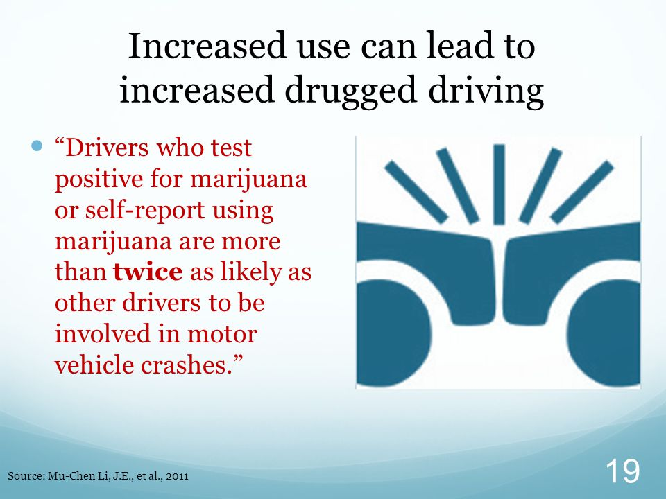 Increased use can lead to increased drugged driving