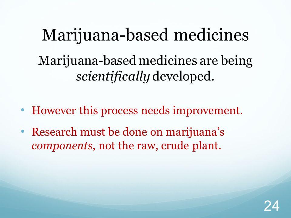 Marijuana-based medicines