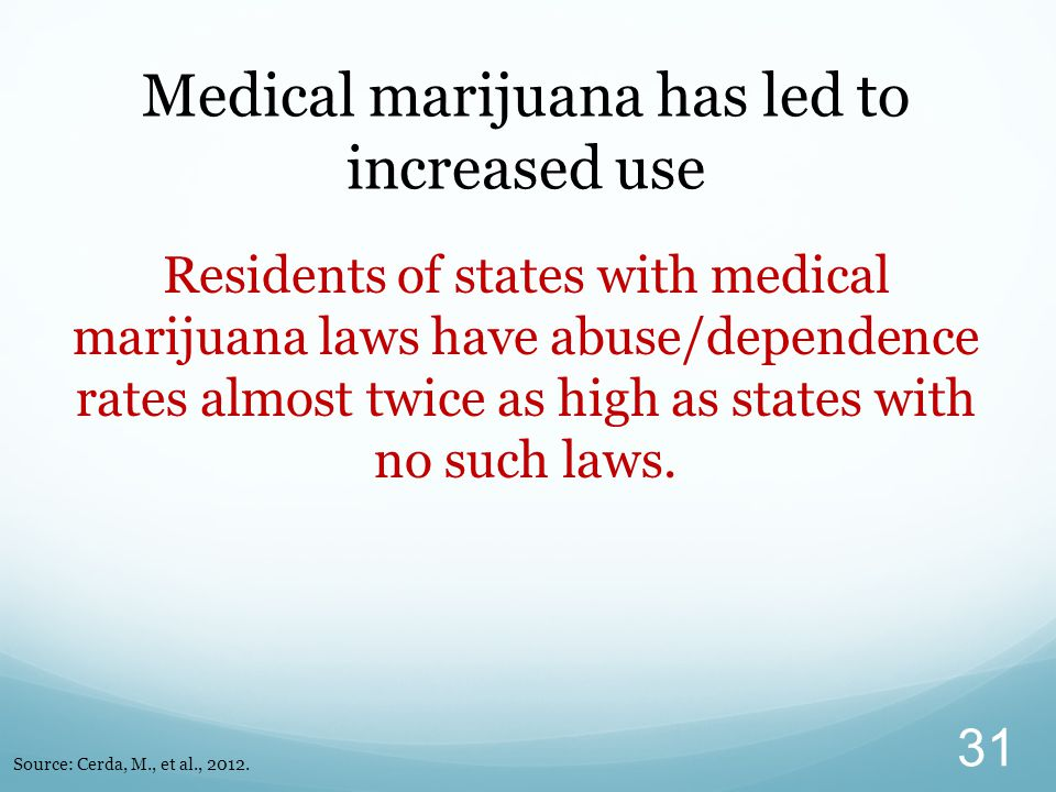Medical marijuana has led to increased use
