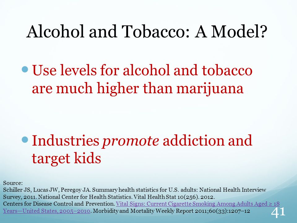 Alcohol and Tobacco: A Model