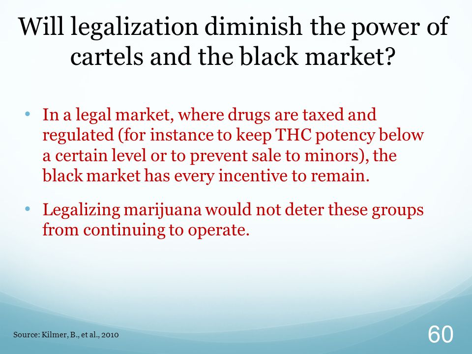 Will legalization diminish the power of cartels and the black market