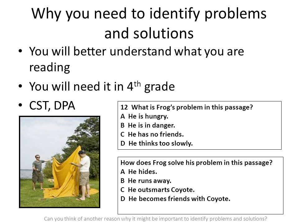 Why you need to identify problems and solutions