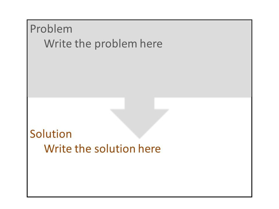 Problem Write the problem here Solution Write the solution here