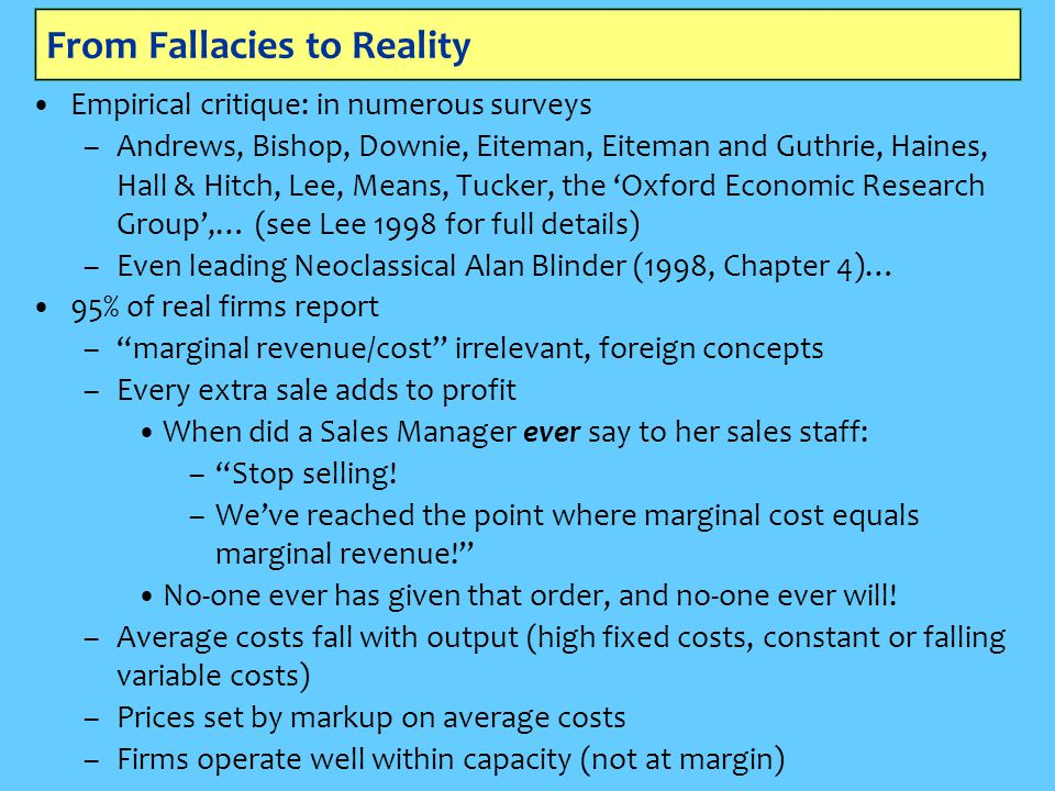 From Fallacies to Reality