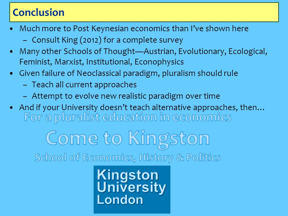 Come to Kingston School of Economics, History & Politics