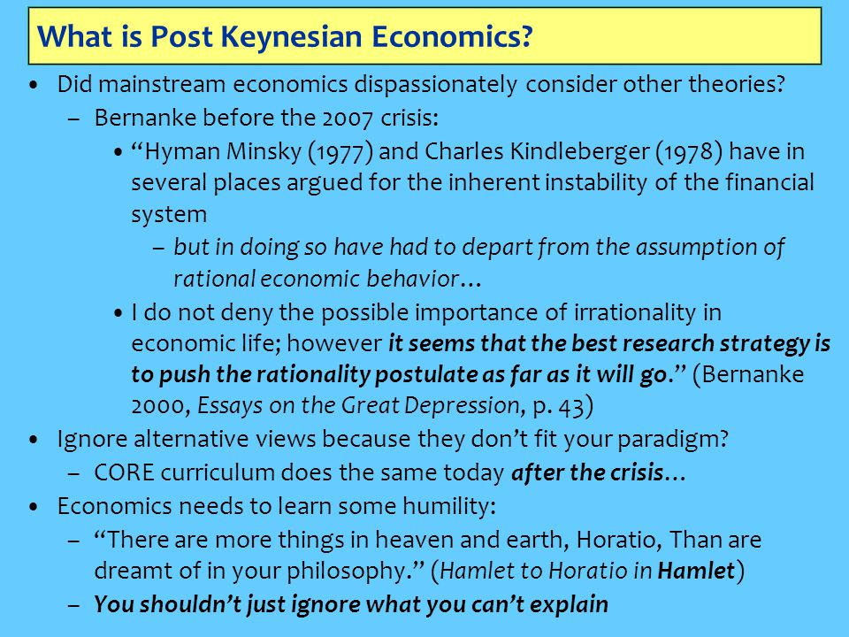 What is Post Keynesian Economics