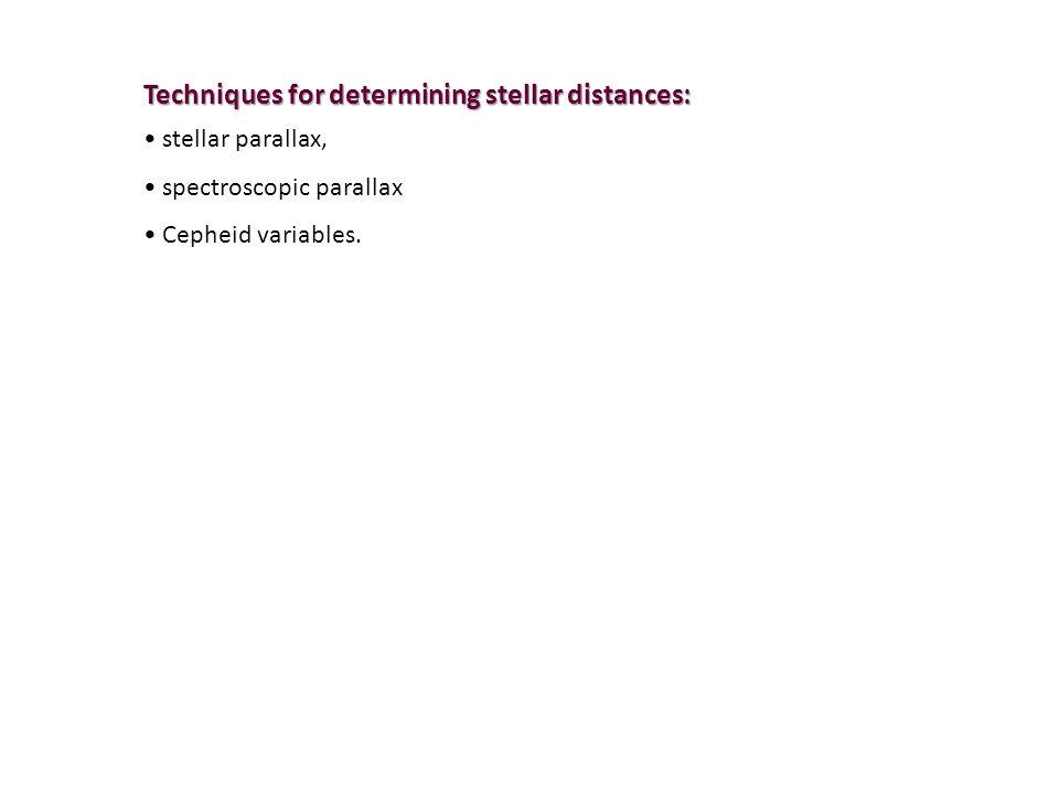 Techniques for determining stellar distances: