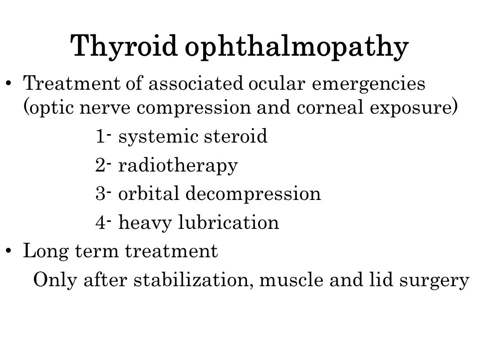 Thyroid ophthalmopathy