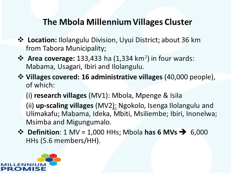 The Mbola Millennium Villages Cluster