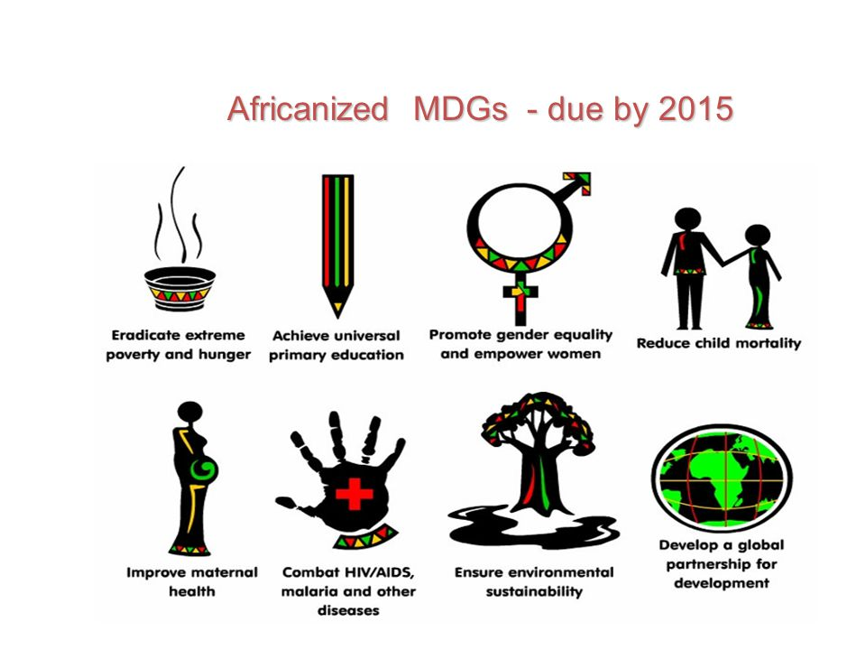 Africanized MDGs - due by 2015