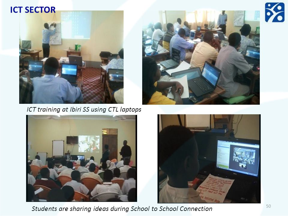 ICT SECTOR ICT training at Ibiri SS using CTL laptops