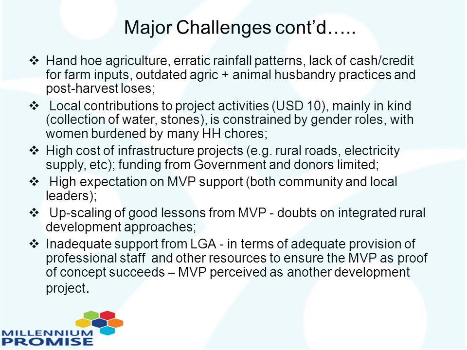 Major Challenges cont'd…..
